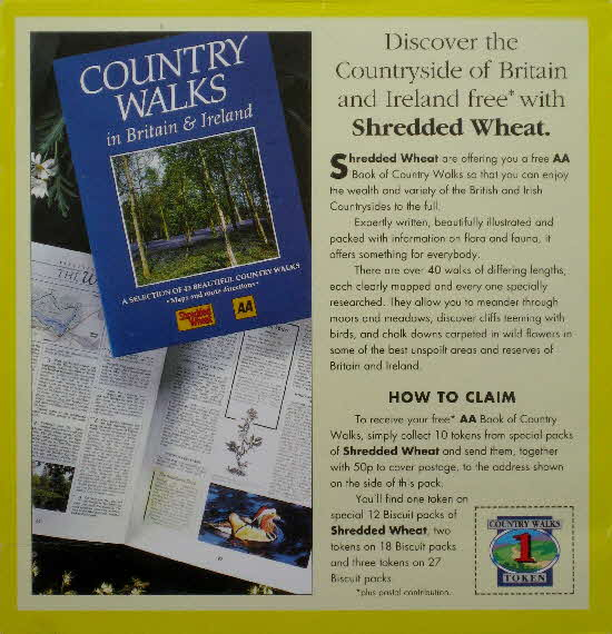 1992 Shredded Wheat AA Country Walks
