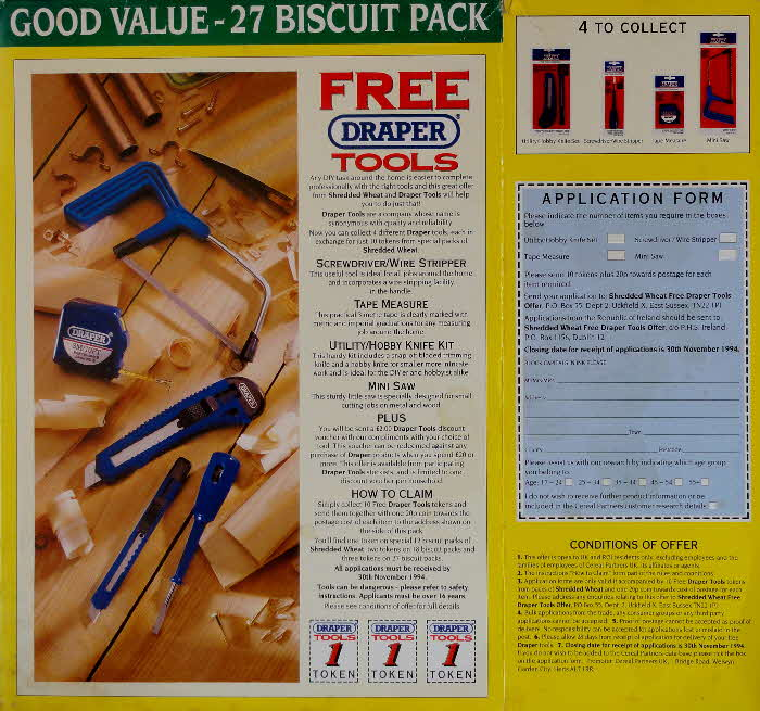 1993 Shredded Wheat Draper Tools