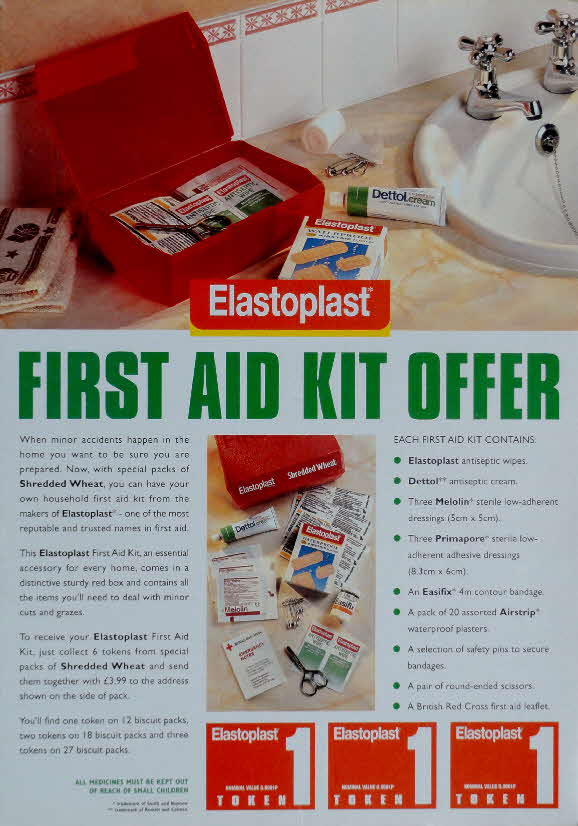 1994 Shredded Wheat First Aid Kit