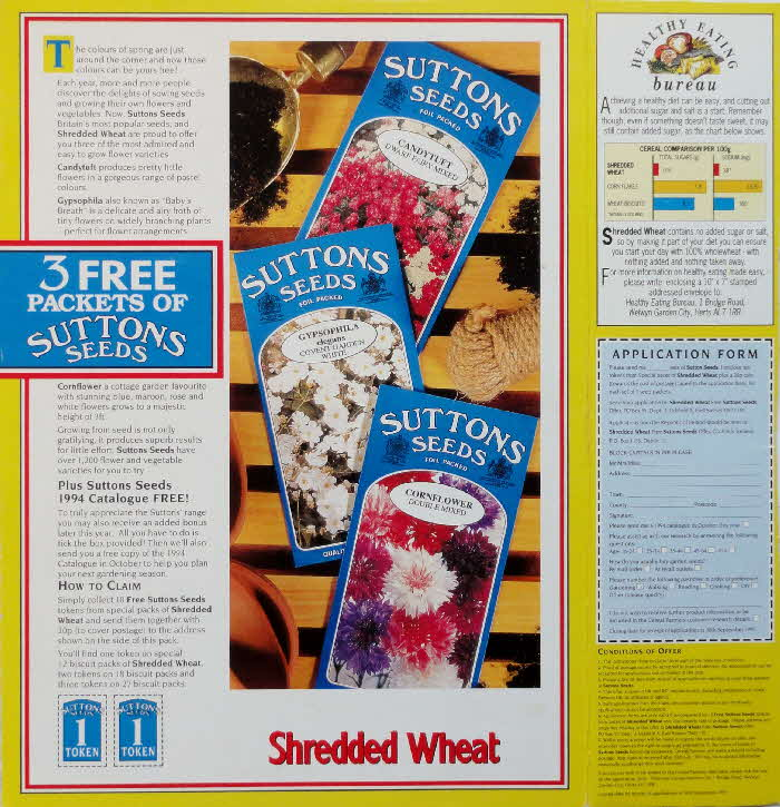 1992 Shredded Wheat Sutton Seeds