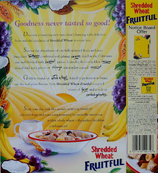 1995 Shredded Wheat Fruitiful New Noticeboard Offer (1)