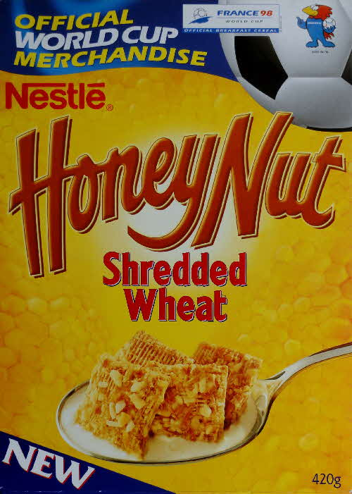 1997 Honey Nut Shredded Wheat World Cup 98 Merchandise New front