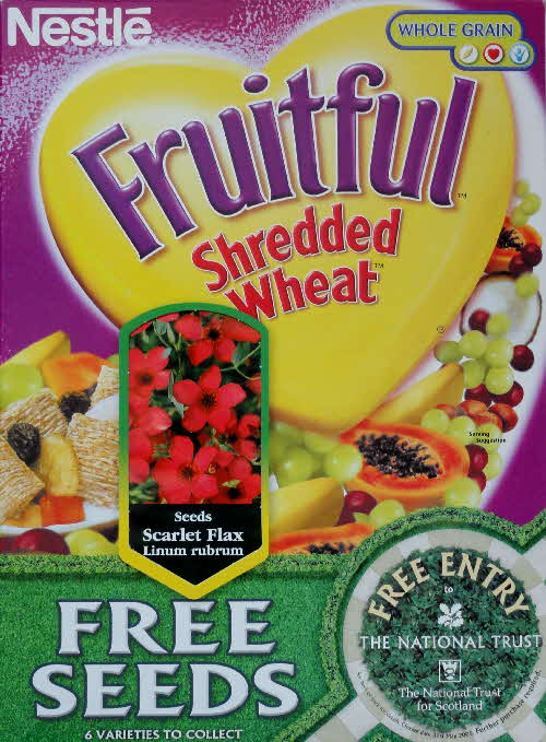 2004 Shredded Wheat Fruitful Free Seeds front