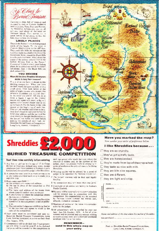 1959 Shreddies Buried Treasure Competition2