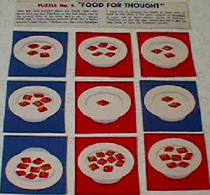 1950s Shreddies  Food for Thought Puzzle No 9 (betr)