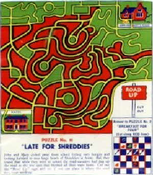 1950s Shreddies Stepping Stones Puzzle No 11 (betr)