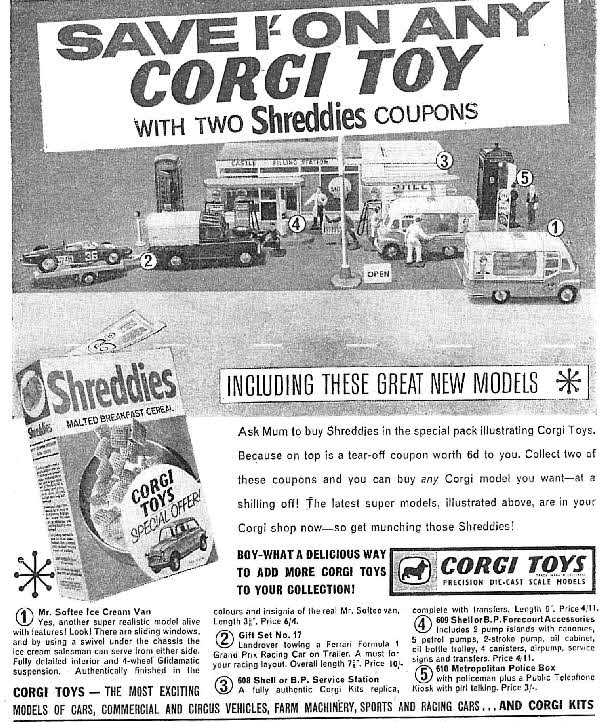 1963 Shreddies Corgi Toy Discount