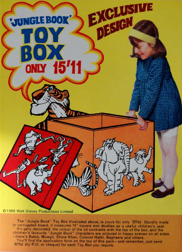 1966 Shreddies Jungle Book Toy Box