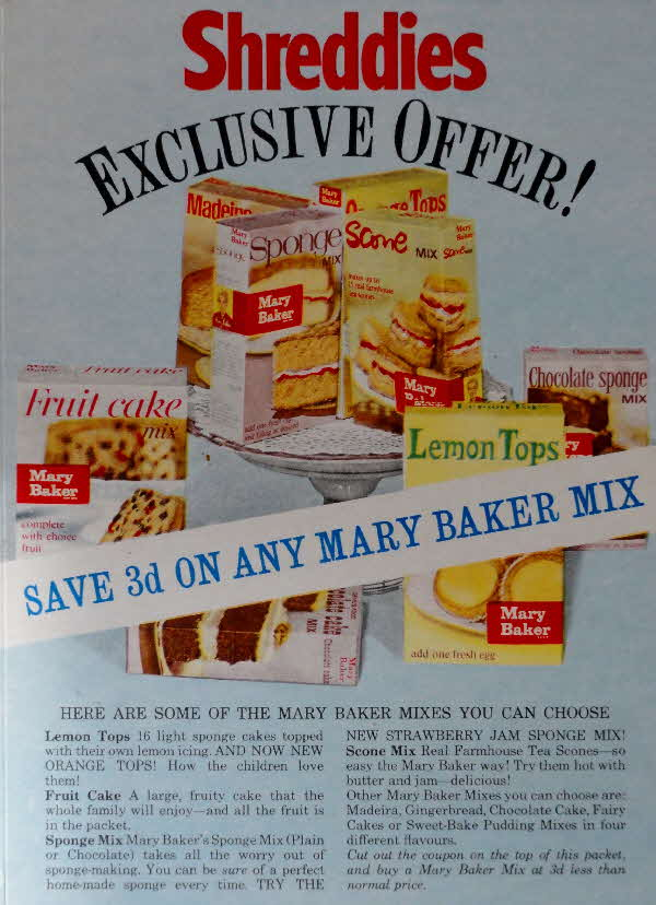 1960s Shreddies Save 3d on Mary Baker Mix