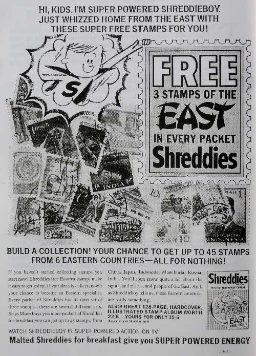 1965 Shreddies Stamps of the East & Album offer