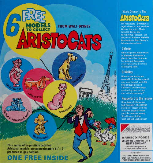 1971 Shreddies Aristocats Models