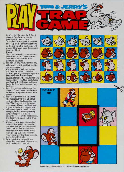 1972 Shreddies Tom & Jerry Trap Game (1)