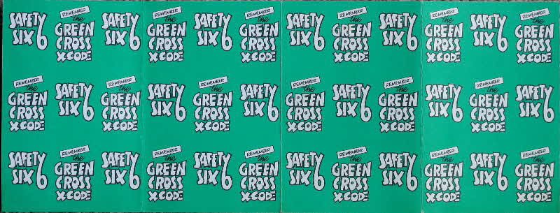 1975 Shreddies Tom & Jerry Green X Code Mini Playing Cards - Safety 6 (2)