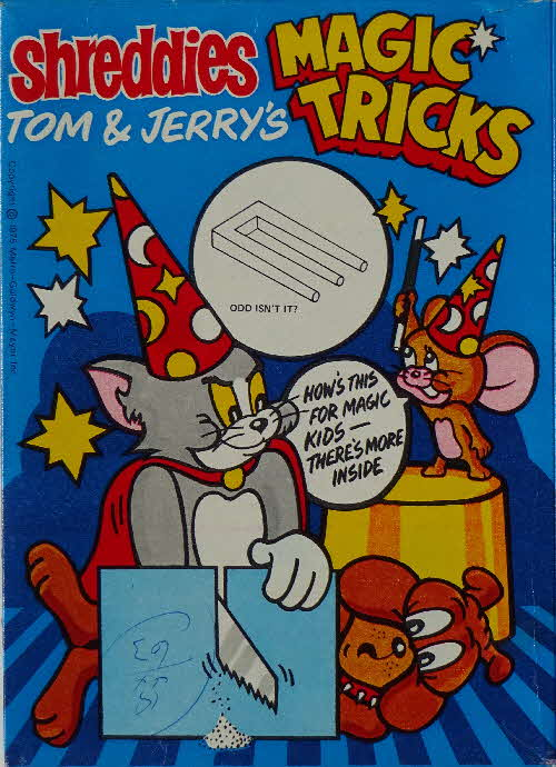 1975 Shreddies Tom & Jerry Magic Tricks