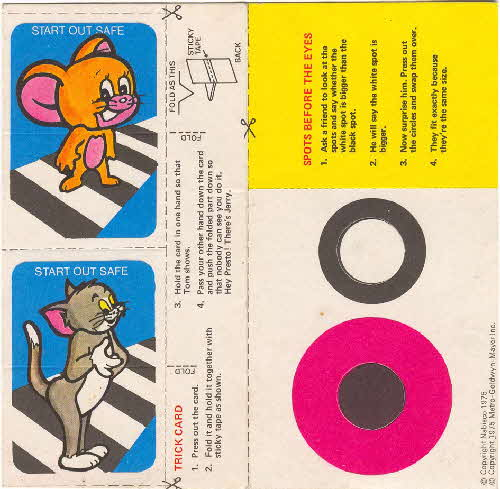 1975 Shreddies Tom & Jerry Trick cards