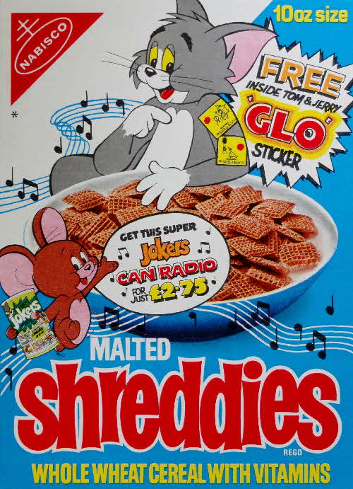 1975 Shreddies Tom & Jerry Glo Stickers & Super Can Radio (2)