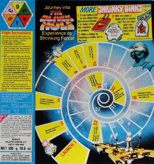 1980 Shreddies Black Hole Shrinky Dinks Game 2