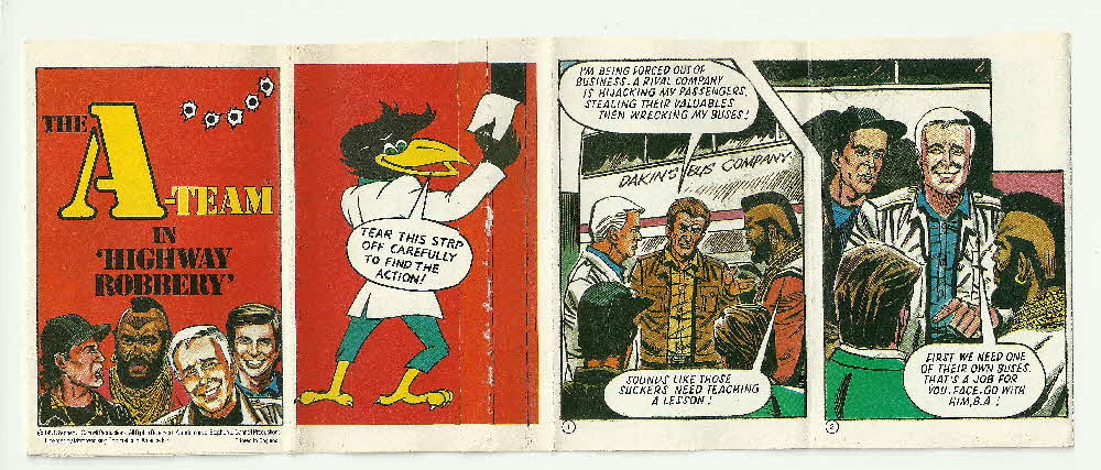 1985 Shreddies A Team Comic Highway Robbery (1)