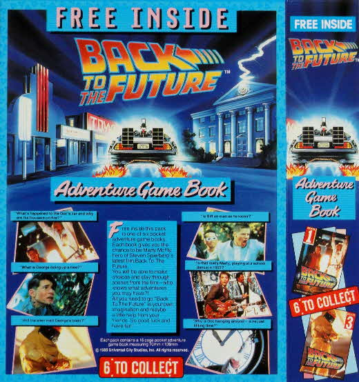 1985 Shreddies Back to the Future Adventure Game Book