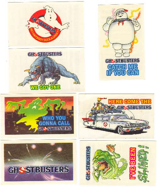 1984 Shreddies Ghostbuster Waterslide transfers