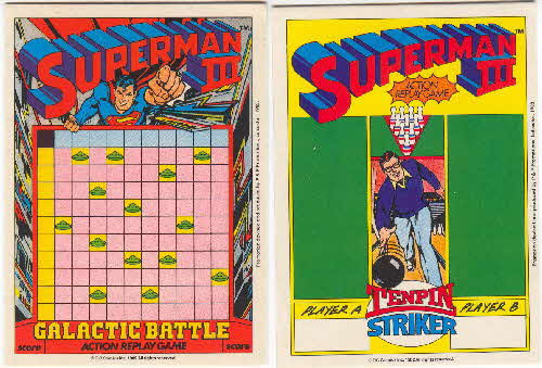 1983 Shreddies Superman 3 Play n Wipe game 1