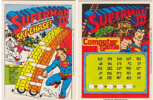 1983 Shreddies Superman 3 Play n Wipe game 3