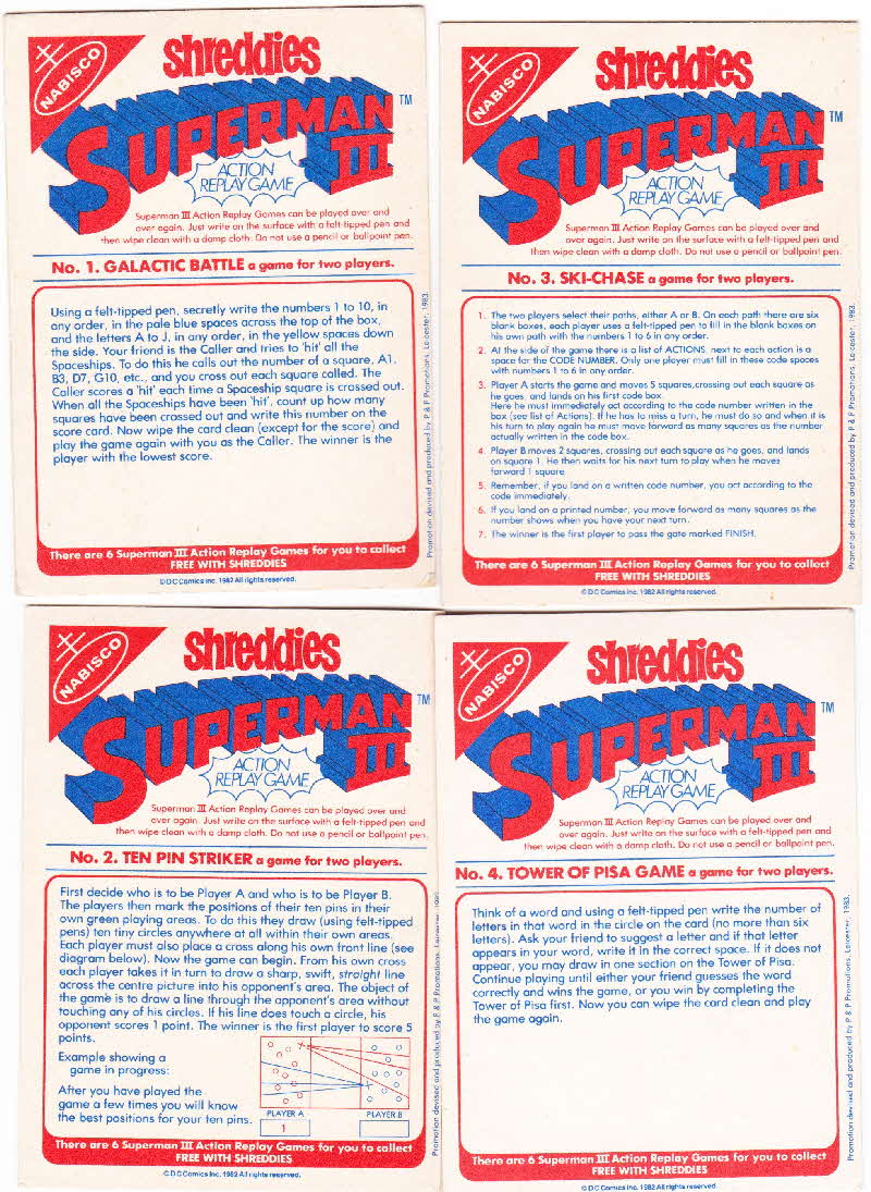1983 Shreddies Superman 3 Play n Wipe game reverse (1)