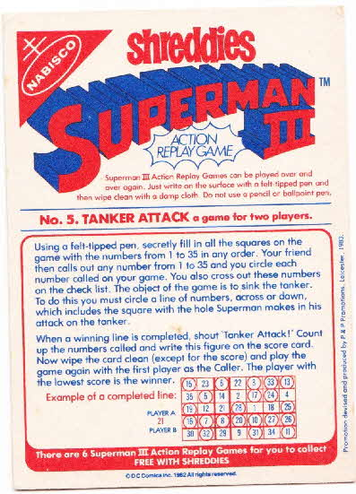1983 Shreddies Superman 3 Play n Wipe game reverse (2)