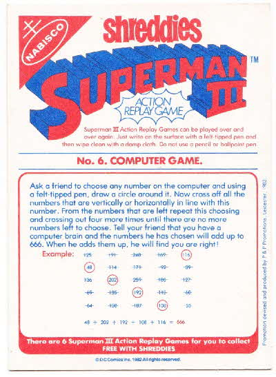 1983 Shreddies Superman 3 Play n Wipe game reverse (2)1