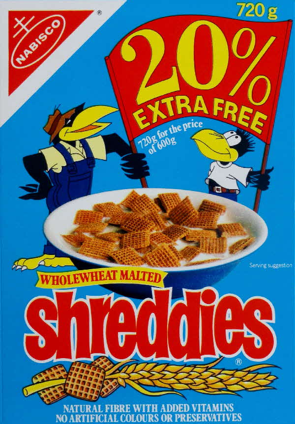 1988 Shreddies 20% Extra free