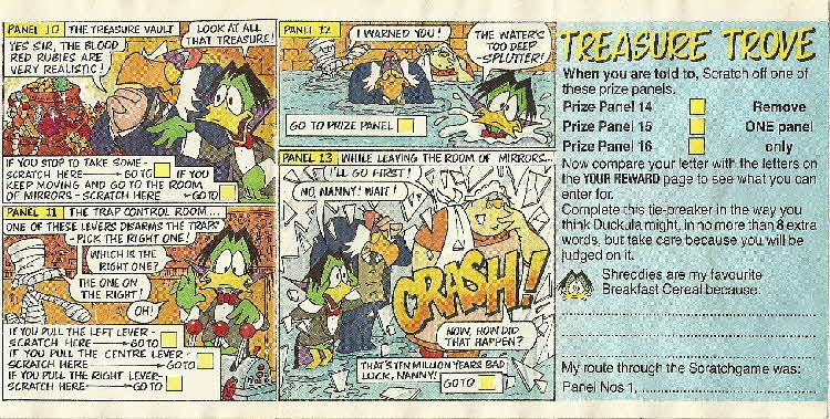 1989 Shreddies Count Duckula Scratchcards Book 2 Page 4