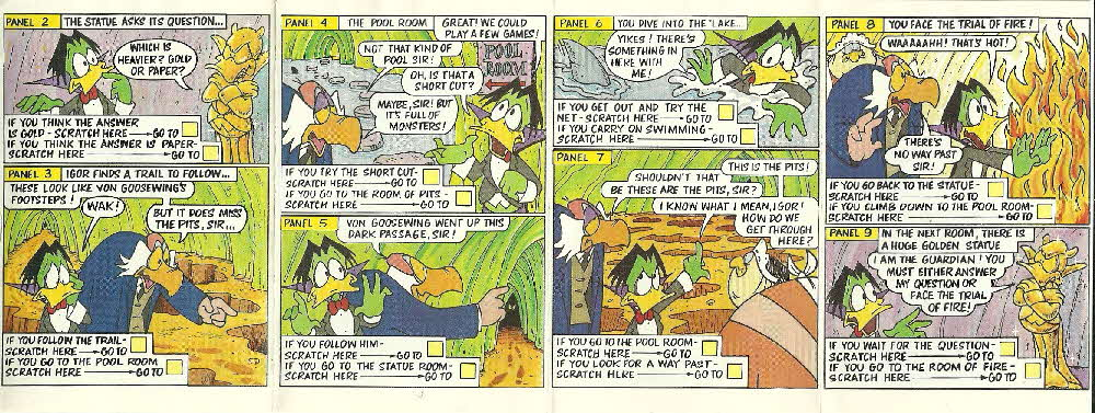 1989 Shreddies Count Duckula Scratchcards Book 3 Page 3