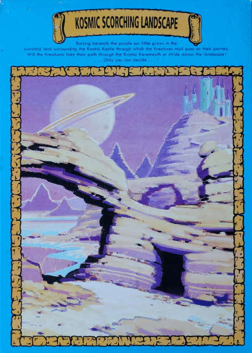 1991 Shreddies Kosmic Kreatures Glow in Dark Sticker - Kosmic Scorching Landscape