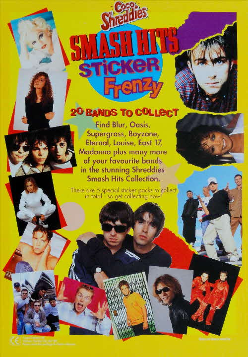 1996 Shreddies Smash Hits Sticker