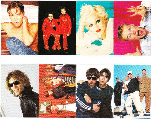 1996 Shreddies Smash Hits stickers (2)