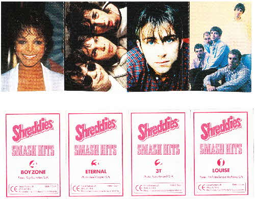 1996 Shreddies Smash Hits stickers (3)