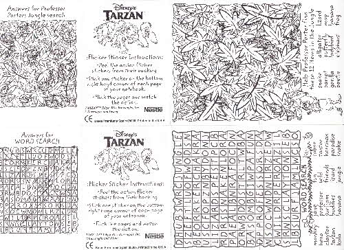 1999 Shreddies Tarzan stickers 1 (1)