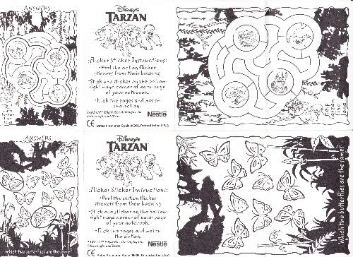 1999 Shreddies Tarzan stickers 2 (1)