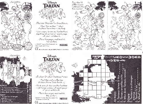 1999 Shreddies Tarzan stickers 3 (1)