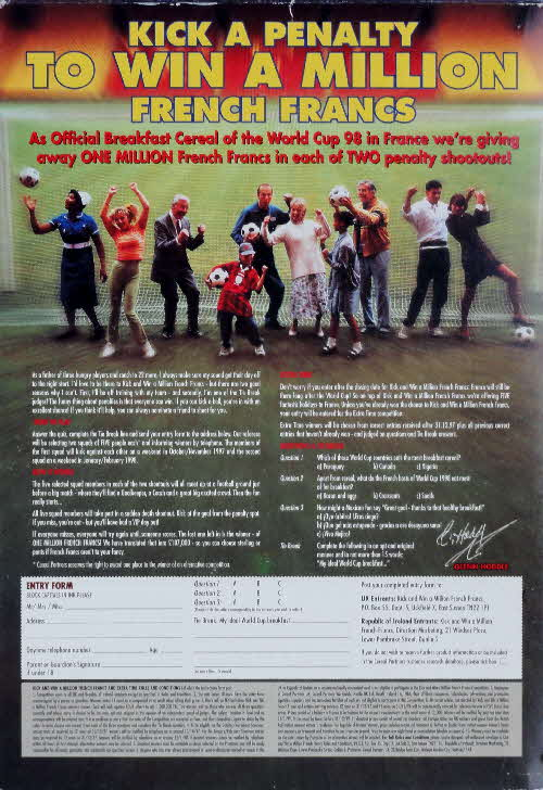 1998 Shreddies Penalty competition & World Cup 98 Merchandise