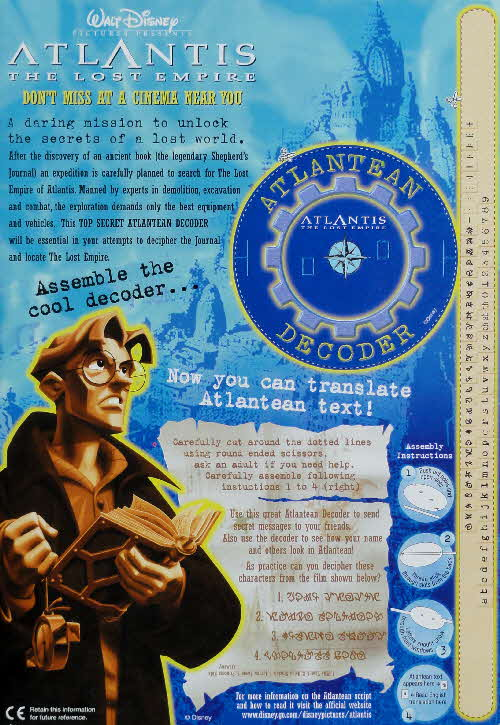 2001 Shreddies Atlantis Atlantean Decoder
