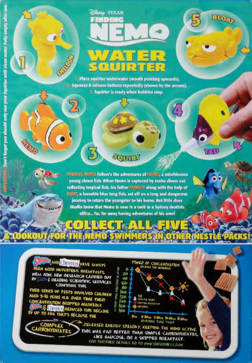 2003 Shreddies Finding Nemo Water Squirters1