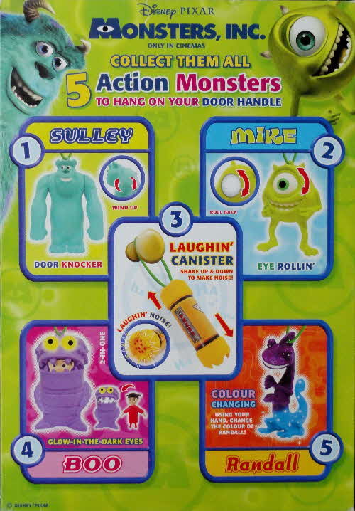 2002 Shreddies MOnster Inc Action Monster