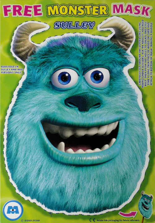 2002 Shreddies Monster Inc Sulley Mask