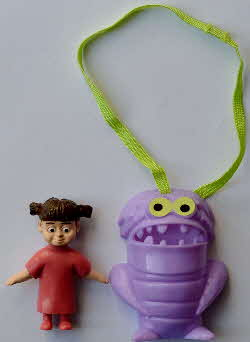 2002 Shreddies Monsters Inc Hanging Action Monsters - Boo