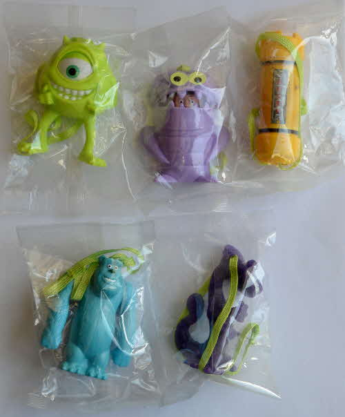 2002 Shreddies Monsters Inc Hanging Action Monsters - mint