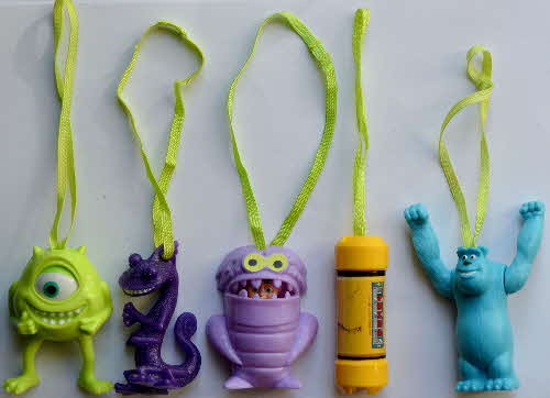 2002 Shreddies Monsters Inc Hanging Action Monsters
