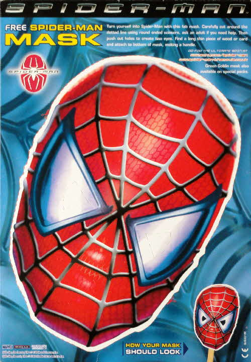 2002 Shreddies Spiderman Mask