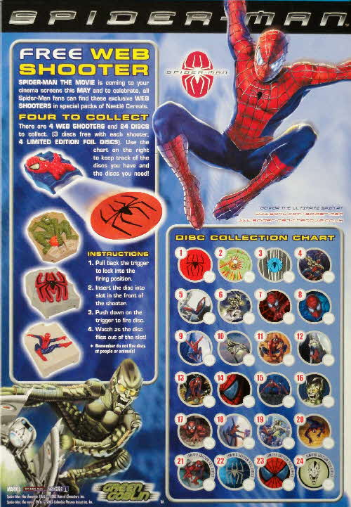 2002 Shreddies Spiderman Web Shooter