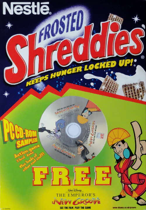 2000 Shreddies Emperors New Grove PC CD Rom front